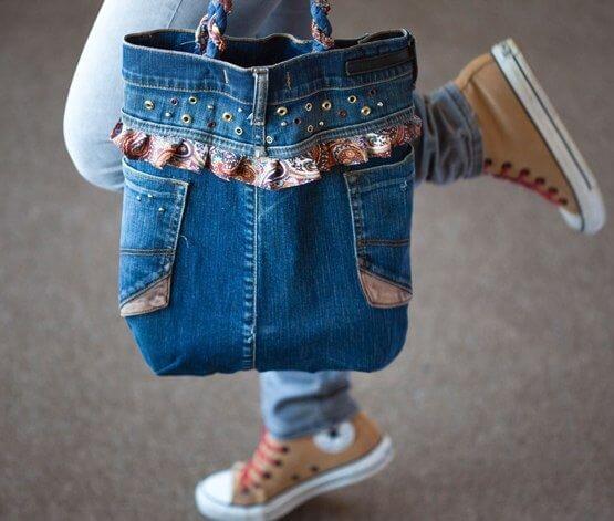 Сумки своими руками из джинсов фото и выкройки из ткани