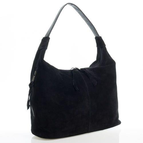 Замшевая сумка Леона