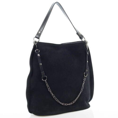 Замшевая сумка Бландина