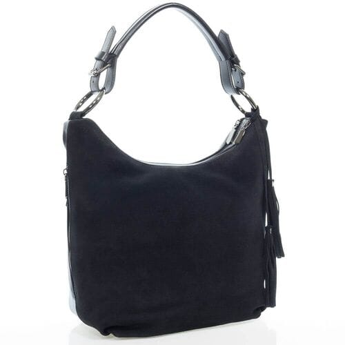 Замшевая сумка Пеми