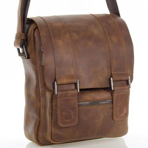 Мужская кожаная сумка Рустам