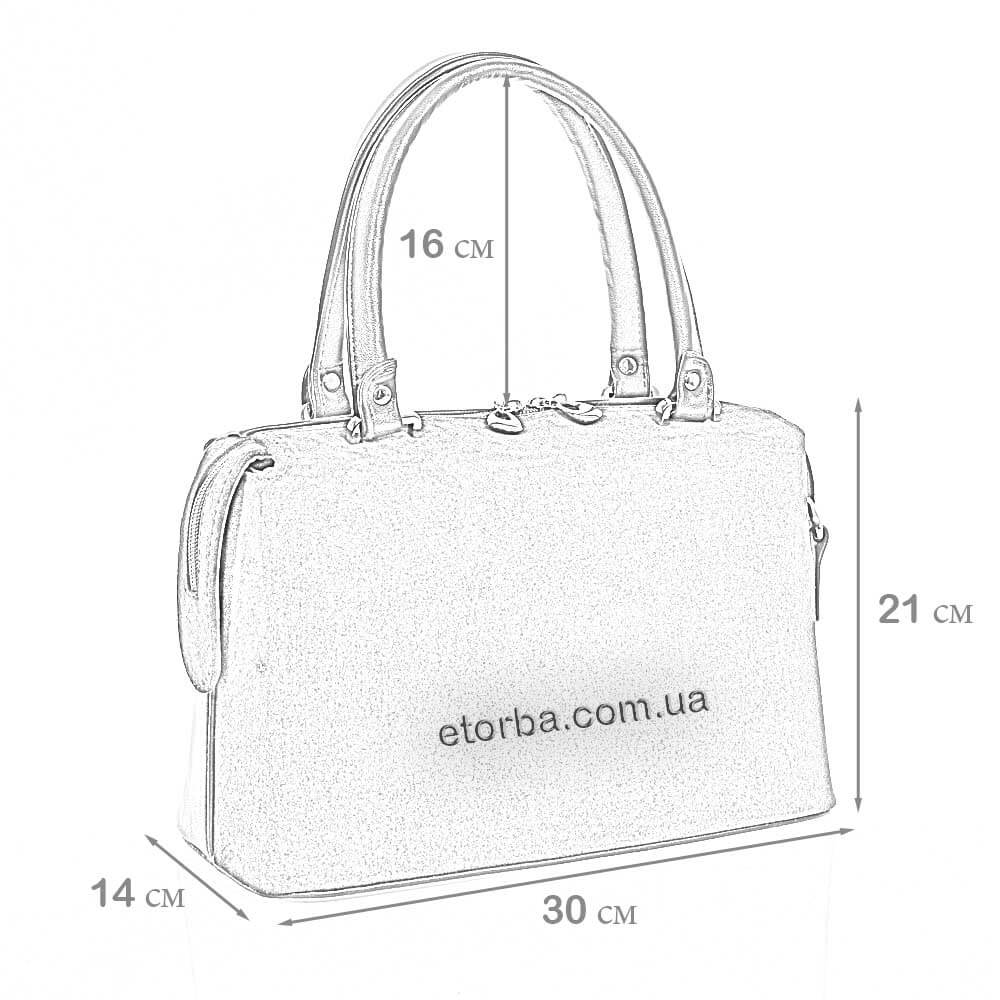 Замшевая женская сумка Милена