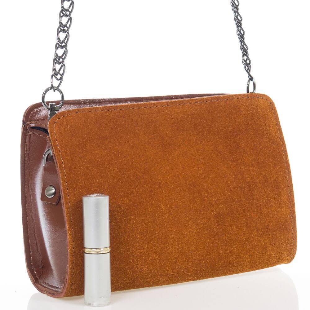 Женская сумочка Алистрина из натуральной замши