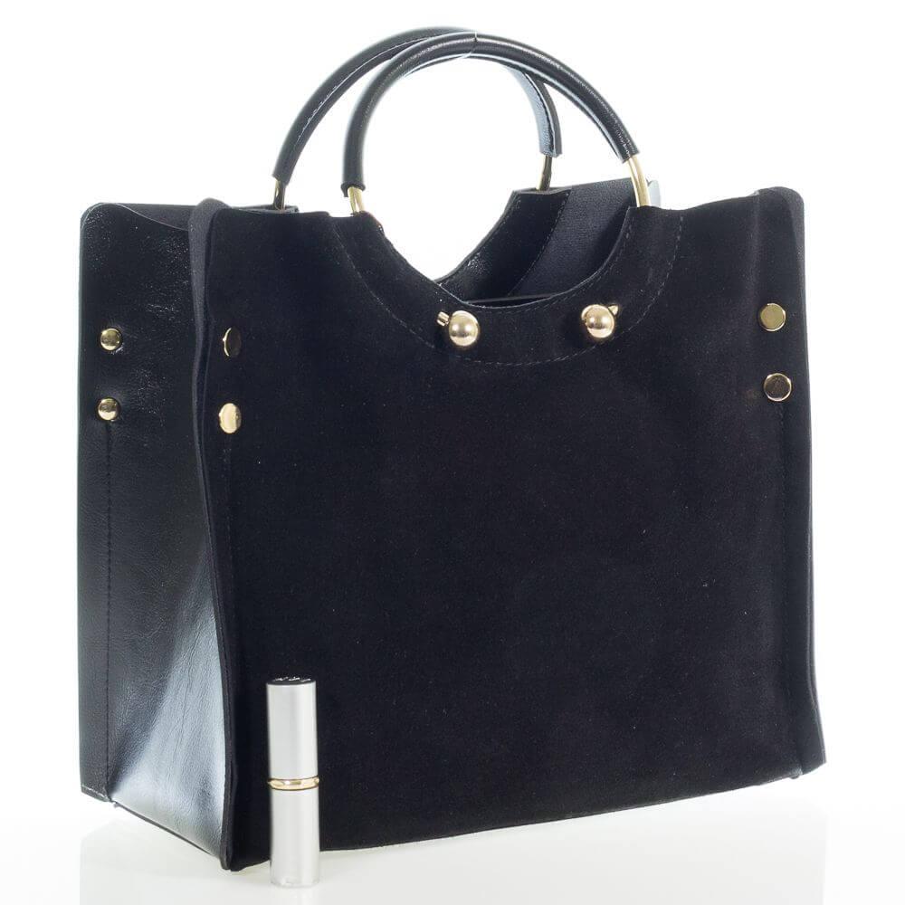 Замшевая сумка Мишель черного цвета