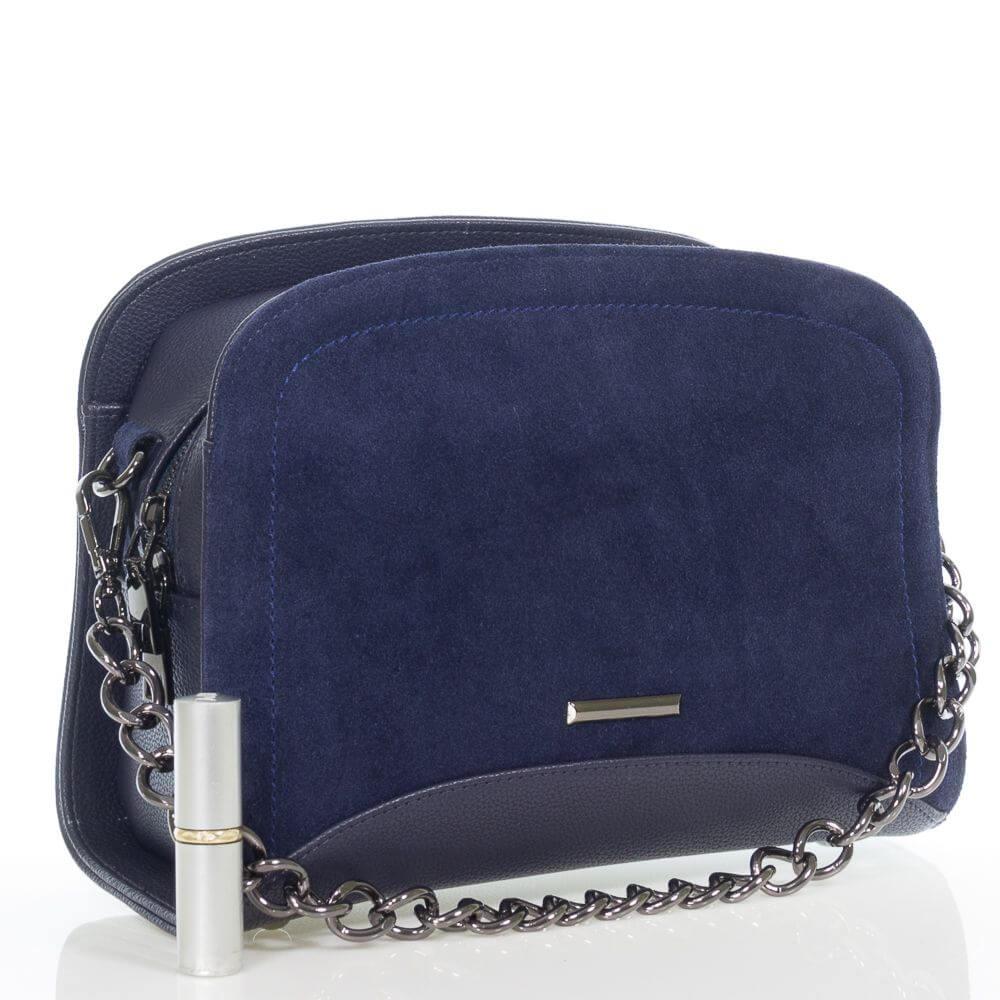 Женская сумочка Оливия на плечо из натуральной замши