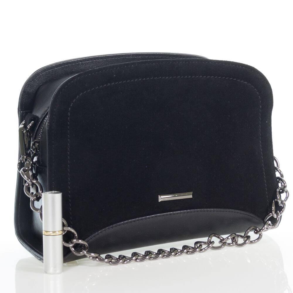Женская сумочка Патриция на плечо из натуральной замши