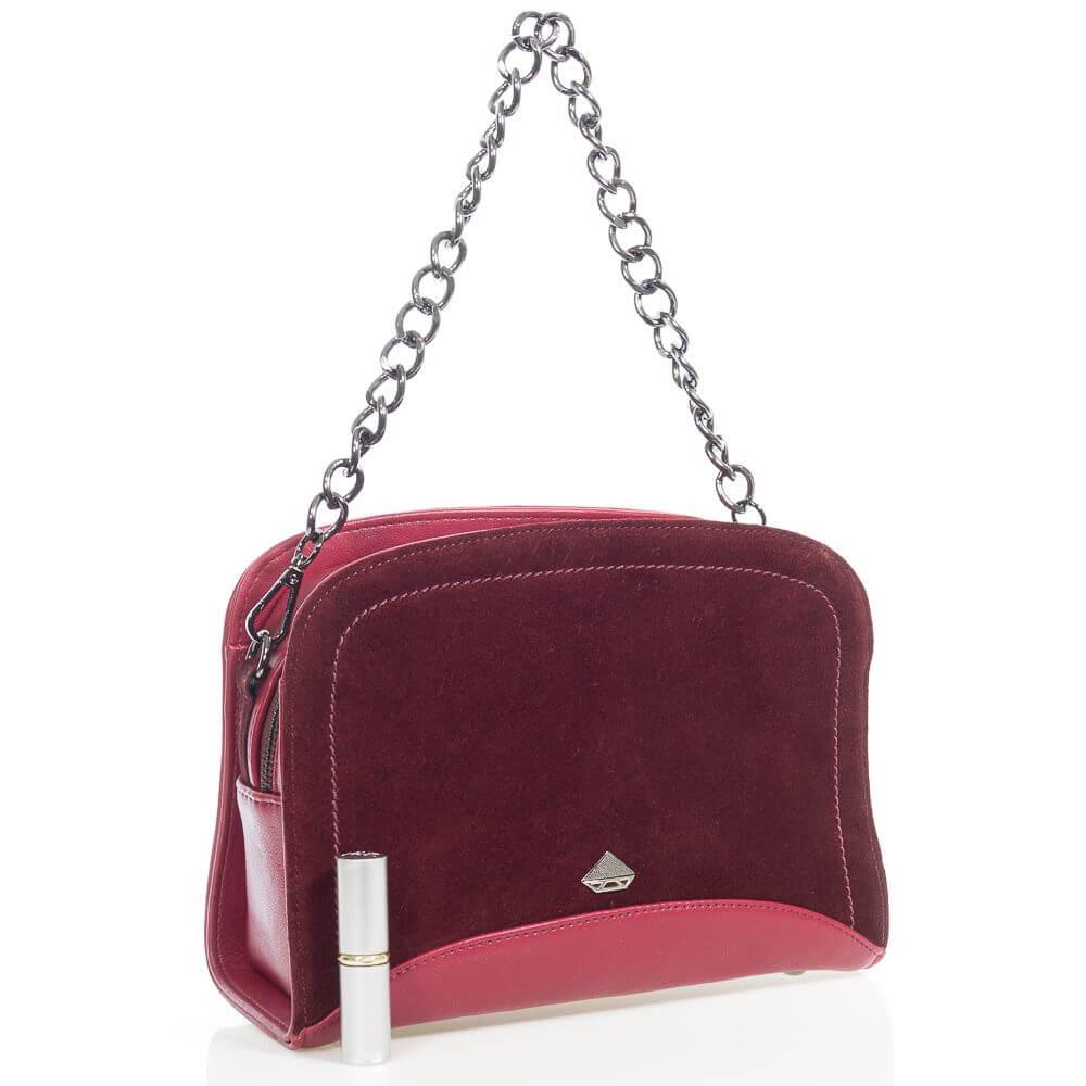 Женская сумочка Кариша на плечо из натуральной замши