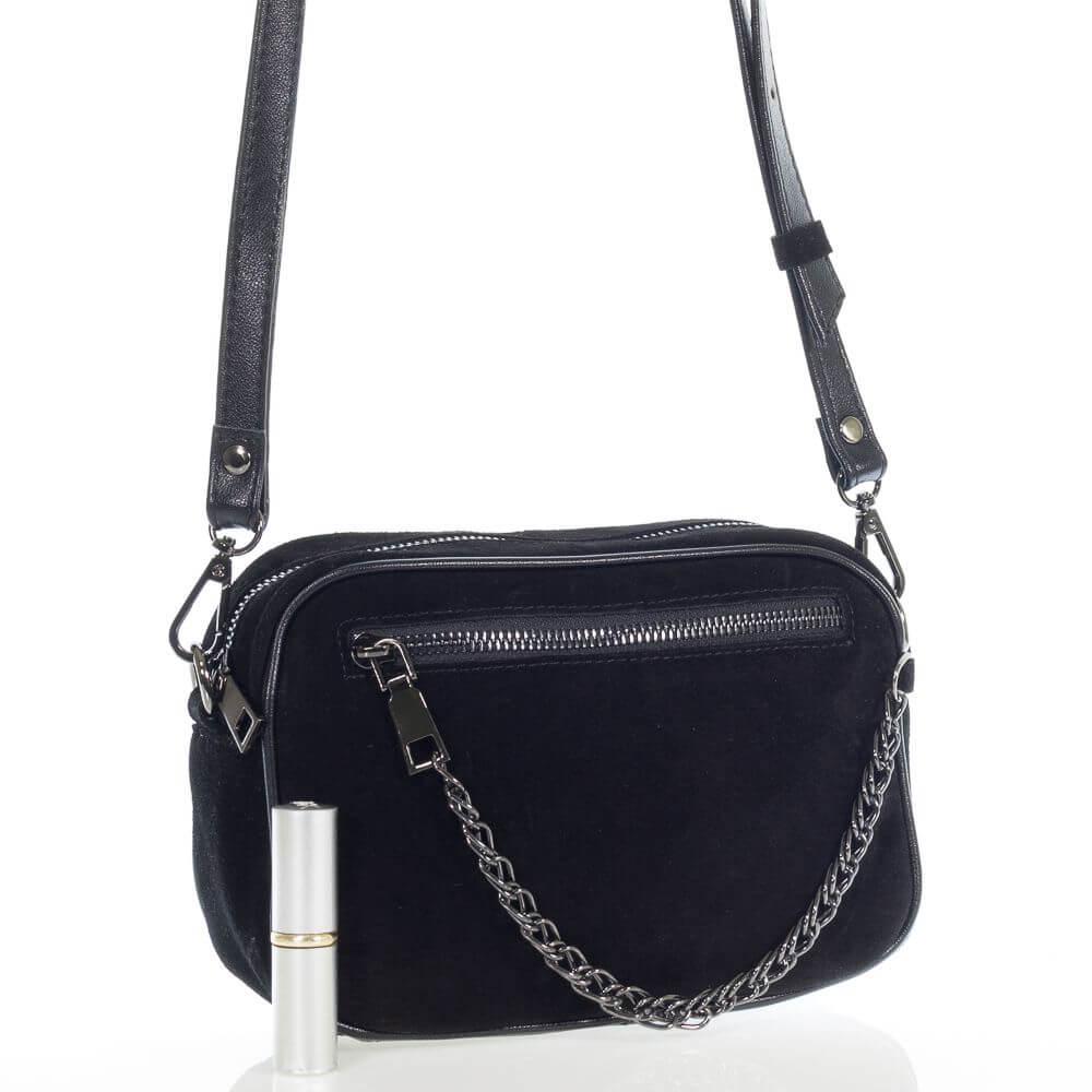 Замшевая женская сумочка на плечо Ясмина
