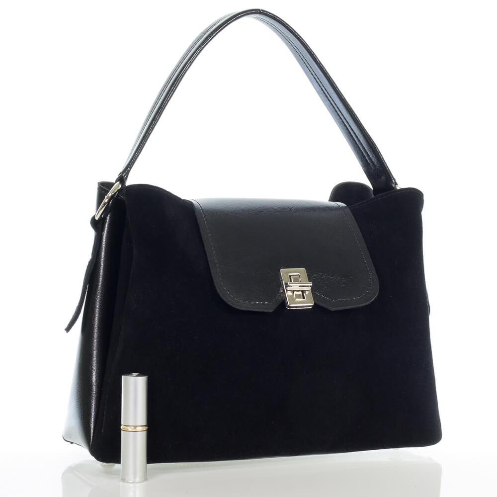 Замшевая женская сумочка на плечо Юлианна