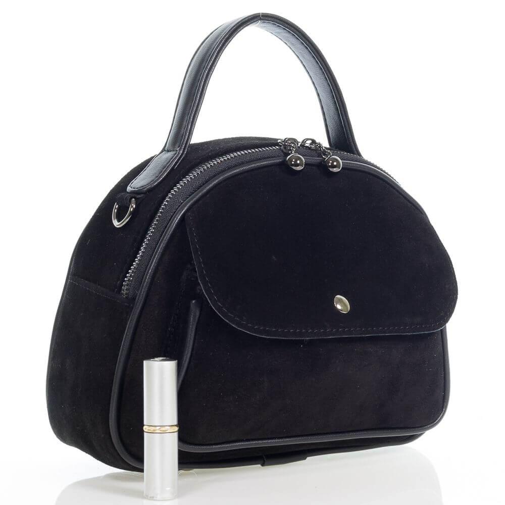 Замшевая женская сумочка на плечо Эля
