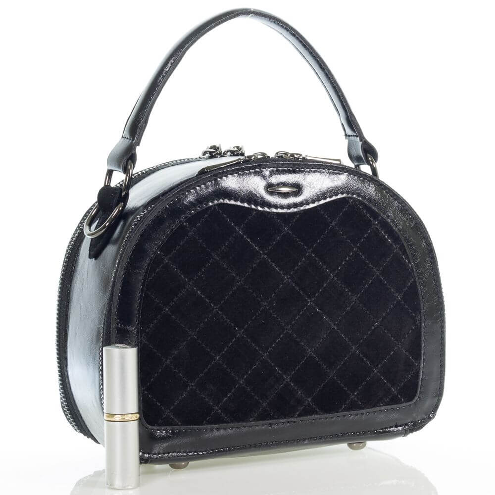 Замшевая женская сумочка на плечо Виолетта