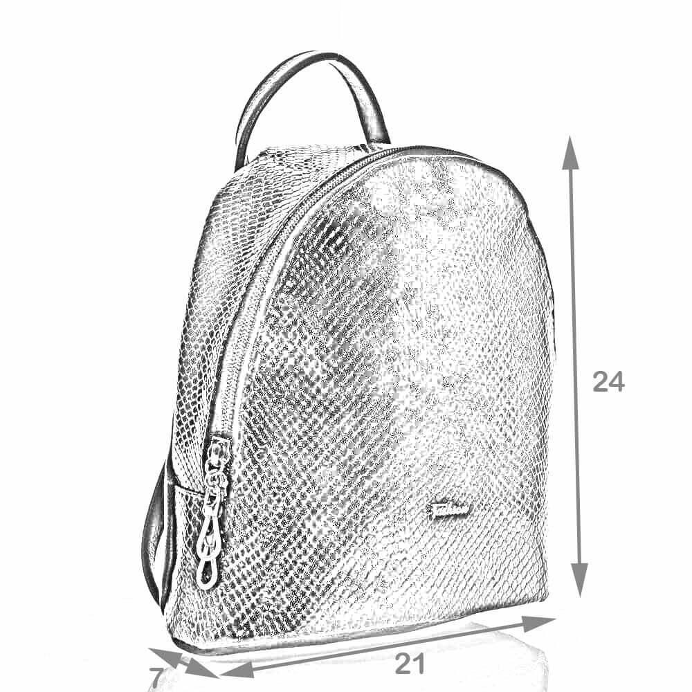 Рюкзак городской Деметер бежевый искусственная кожа размеры