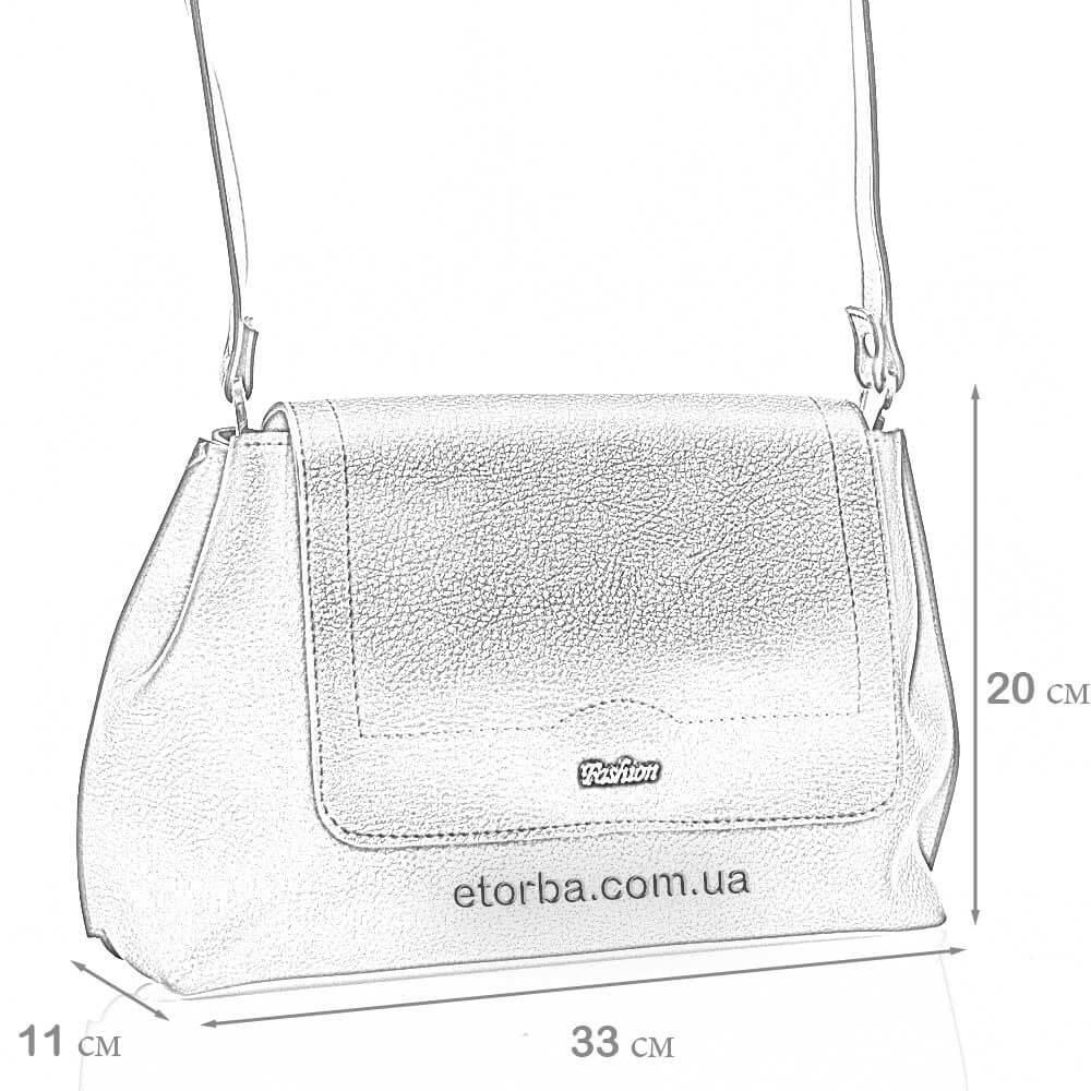 Размеры сумки из эко кожи Лучезара