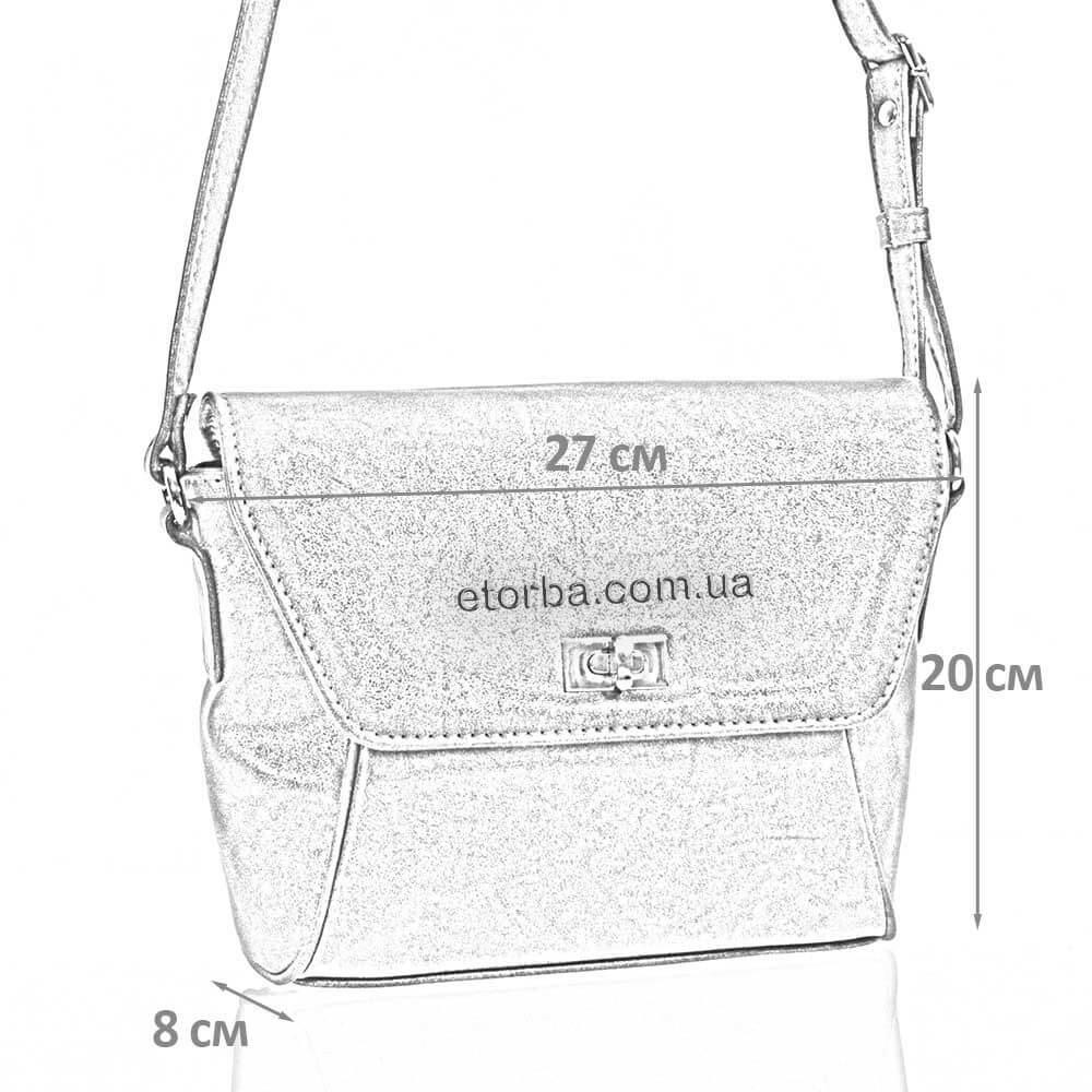 Женская сумка через плечо Идета из искусственной кожи