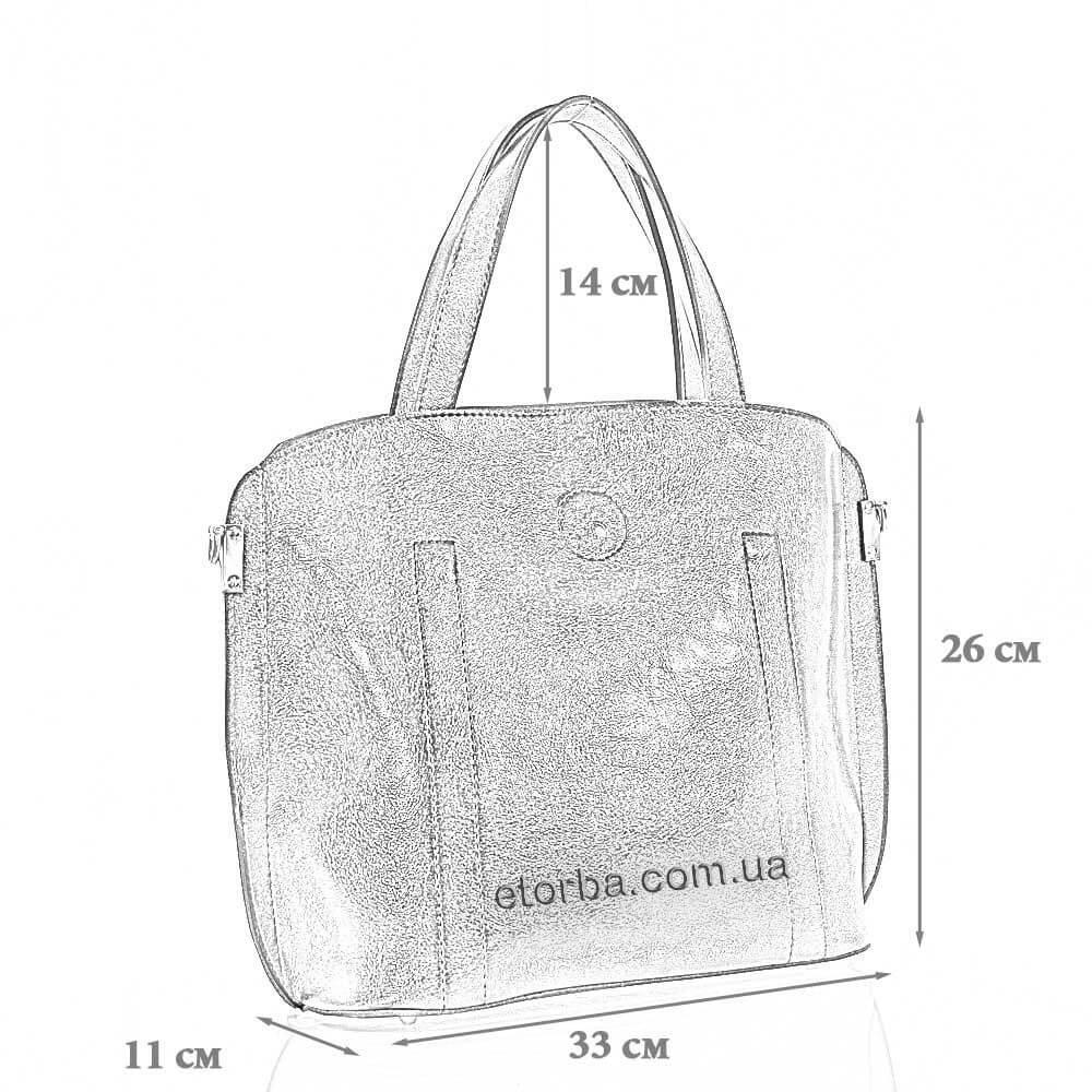 Размеры женской сумки из эко кожи Эсмеральда
