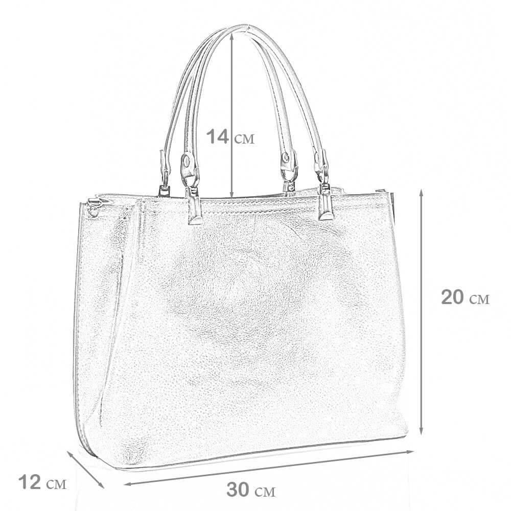 Размеры женской сумки Эмелли
