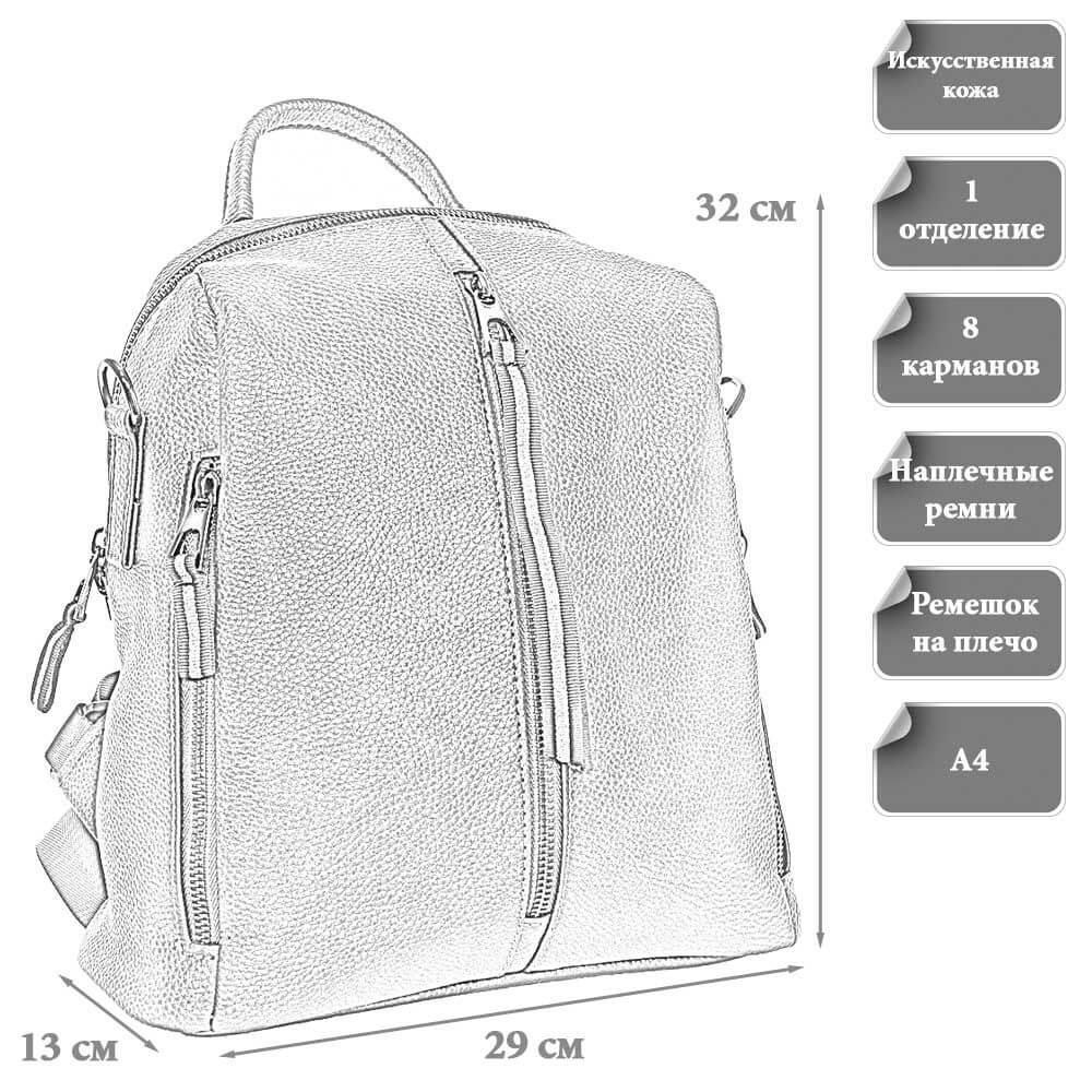 Размер городского рюкзака Наталья