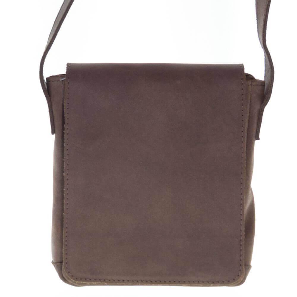 Мужская кожаная сумка на плечо Буджар