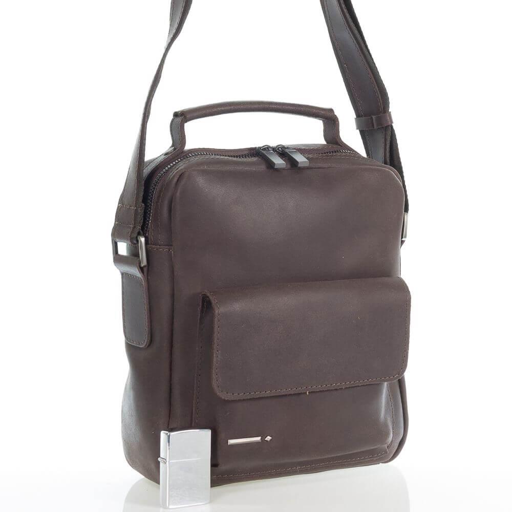 Мужская кожаная сумка Адриан