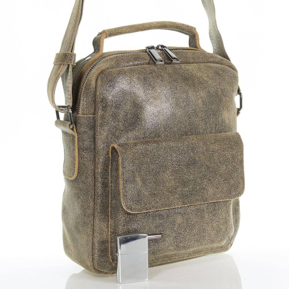 Мужская кожаная сумка Толик