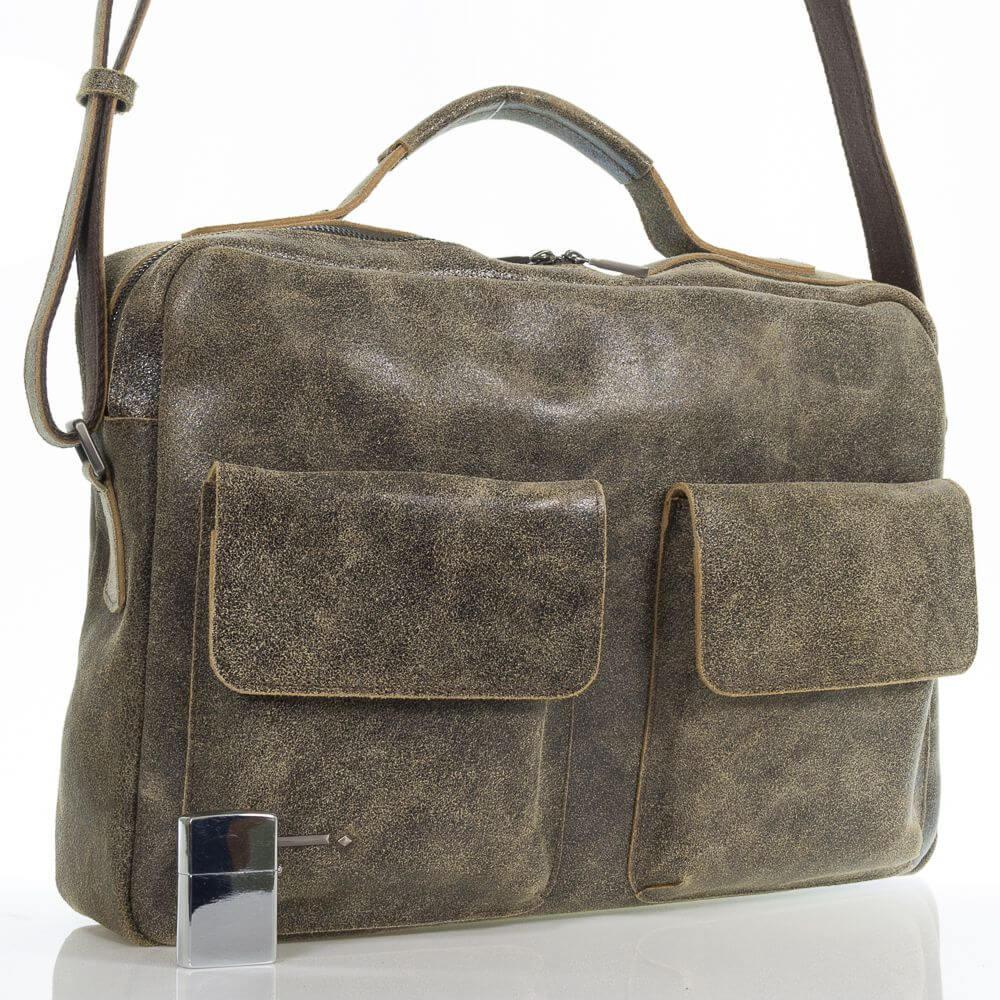 Мужской кожаный портфель Эдуард