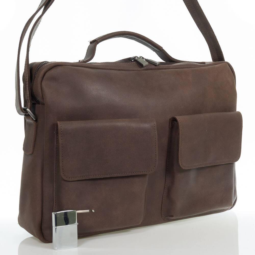 Мужской кожаный портфель Натан