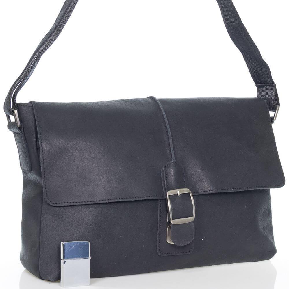 Кожаная сумка-портфель Юстус