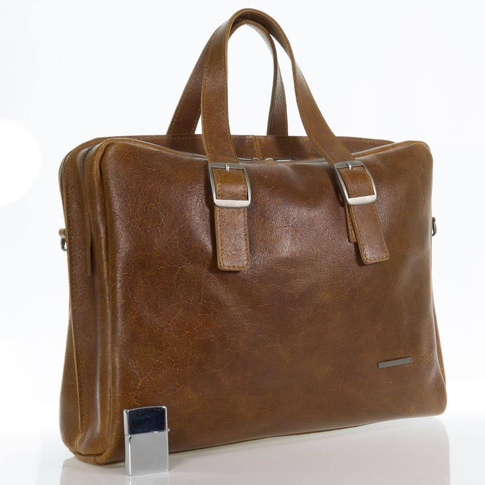 Мужской кожаный портфель сумка Прохор