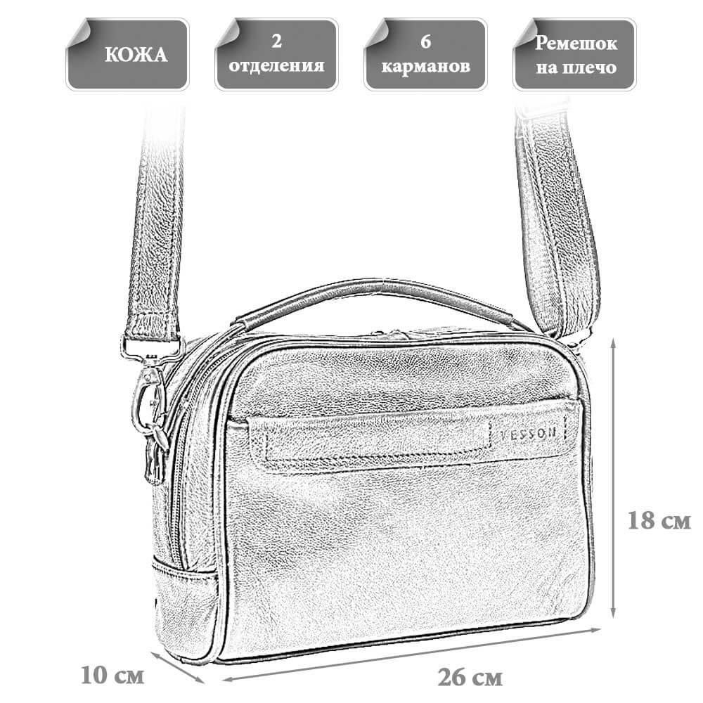 Размеры мужской сумки Парис