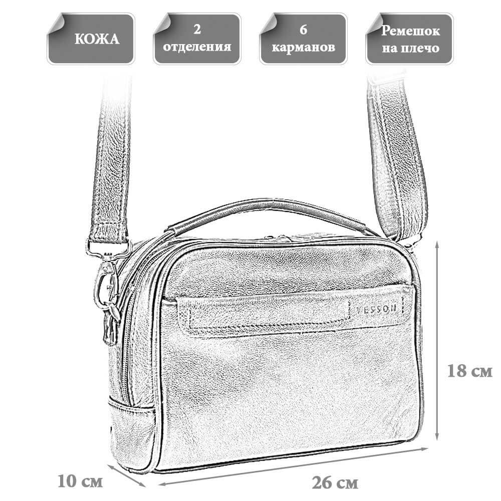 Размеры мужской сумки Блэйз