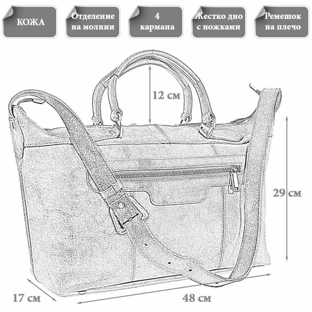 Размер дорожной сумки Мармарис