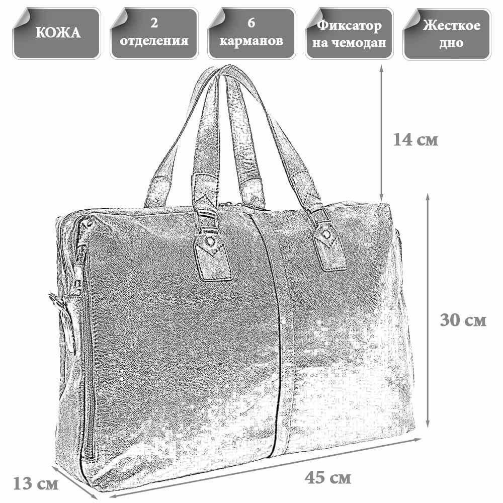Размеры мужской сумки Макариос