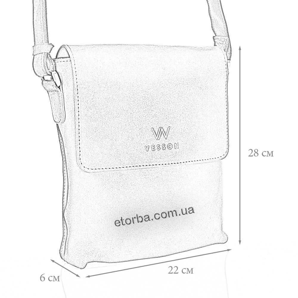 Размеры мужской кожаной сумки Дик