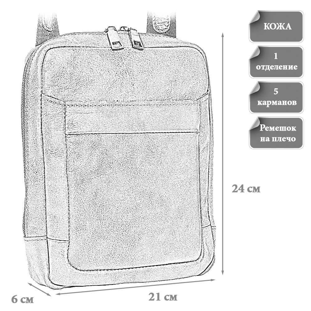 Размеры мужской сумки Тимоти