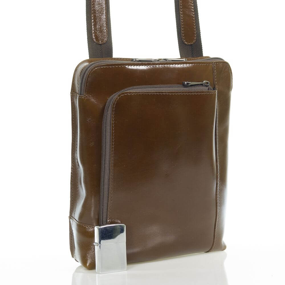 Мужская кожаная сумка на плечо Тэмхас